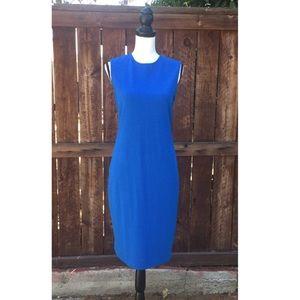 VINCE Blue Midi Dress size M